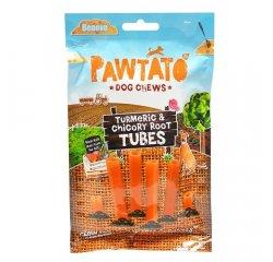 Odmena pre psy, Benevo Pawtato Tubes - Turmeric & Chicory Root, 90g