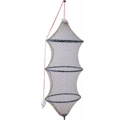 Prechovávacia sieťka na ryby 160cm, šírka 60cm, 3 kruhy