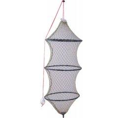 Prechovávacia sieťka na ryby 225cm, šírka 50cm, 3 kruhy - bezuzlová