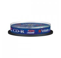 MEDIARANGE CD-R 52x 700MB/80min Inkjet Fullsurface-Printable Cake 25