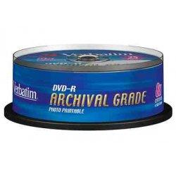 MEDIARANGE DVD-R 4,7GB 16x Inkjet Fullsurface-Printable Cake 25