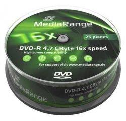 MEDIARANGE DVD-R 4,7GB 16x spindl 10pck/bal