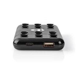 Nedis WPBKSC10000BK - Powerbanka s Bezdrátovou Nabíječkou   10000 mAh   2.4 A   Výstup USB   Černá barva