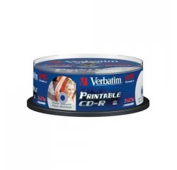 VERBATIM CD-R 80 52x PRINT. spindl 25pck/BAL
