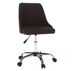 TEMPO KONDELA Kancelárska stolička, hnedá/chróm, EDIZ
