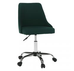 TEMPO KONDELA Kancelárska stolička, smaragdová/chróm, EDIZ