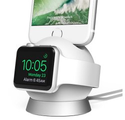 iOttie OmniBolt Charging Watch & iPhone Stand - White/Silver
